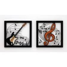 Music Note Wall Decor Metal Brown Decorative Music Notes Wall Decoration Free Shipping