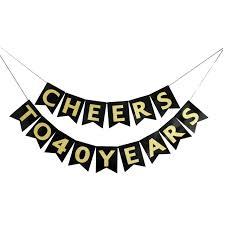 amazon com innoru cheers 40 years cake topper 40th