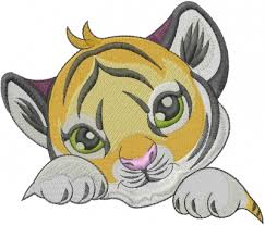 baby tiger embroidery design from machine embroidery designs