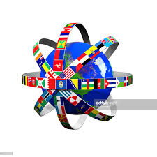 Flag Of The World A Globe With Flags Of The World Stock Illustration Getty Images