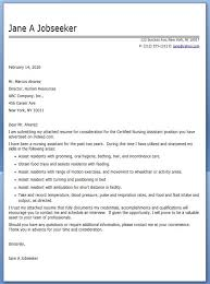 Cna Sample Resumes by Sample Cover Letter For Resume Nursing Assistant Docoments Ojazlink