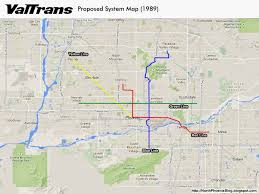 Valley Metro Light Rail Map by Valtrans An Idea Ahead Of Its Time