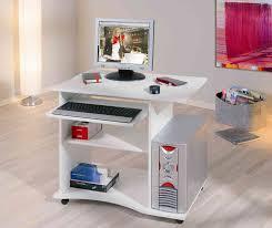 bureau pour ordinateur fixe bureau informatique contemporain blanc milan bureau chambre