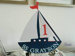 boat cake topper sailboat cake topper birthday cake topper nautical baby