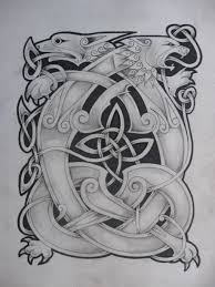 celtic lion and dragon2 by knotty inks on deviantart