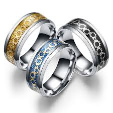 titanium style rings images Gear ring 316 stainless steel ring top quality titanium ring jpg