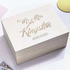 wedding photo box personalised wedding keepsake box by