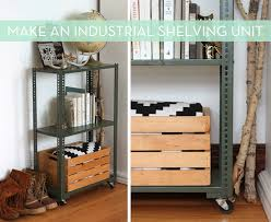 Industrial Shelving Unit by How To Make An Industrial Shelving Unit Industrial Shelving