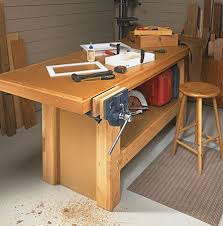 Simple Wood Workbench Plans by
