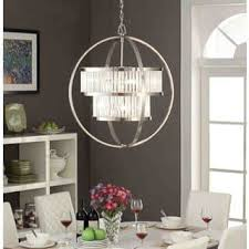 Broadway Linear Crystal Chandelier Nickel Finish Ceiling Lights For Less Overstock Com