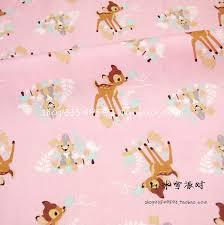 rabbit material 105 50cm 1pc pink fabric 100 cotton fabric telas patchwork
