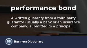 what is a performance bond definition and meaning