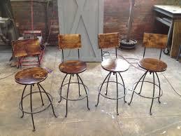 Kitchen Bar Counter Design Furniture Rustic Diy Metal Frame Swivel Barstools With Wood Back