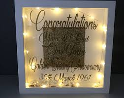 wedding anniversary plaques 50th anniversary etsy