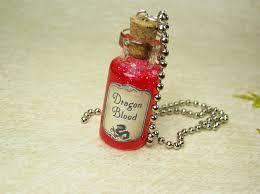 dragon glass pendant necklace images Dragon blood glass bottle necklace glass vial pendant dragon 39 s jpg