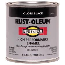 shop rust oleum professional black gloss gloss oil based enamel