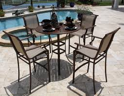 Patio Bar Height Tables Outdoor Patio Bar Height Table And Chairs Patio Furniture