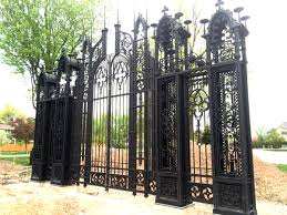 monster wrought iron gate and fencing to surround miller mansion