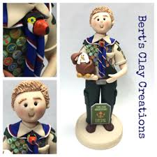 eagle scout cake topper custom eagle scout cake topper bert s clay creations