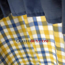 Yellow Valance Curtains Mediterranean Style Curtains Yellow And Blue Plaid Print No