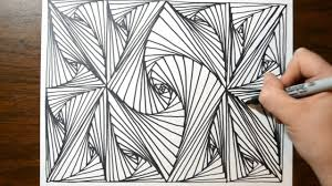 cool sketch doodle technique drawing a random pattern youtube