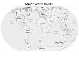 worlds rivers map major world rivers outline map by historyhound tpt