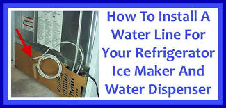 how to install a water line to your refrigerator easy step by