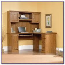 corner computer desk with hutch hampton bay white 4 piece lshaped