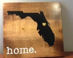 Personalized Wood Signs Home Decor Florida Wood Sign Etsy