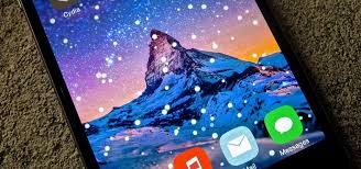 theme your iphone u0027s home screen with falling snow for the winter