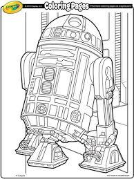 star wars r2d2 coloring crayola