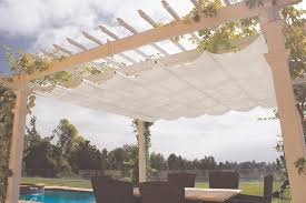 Wooden Awning Kits Retractable Canopy For Attached Pergolas Pergola Depot