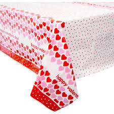 Valentine S Day Tablecloth by Plastic Hearts Happy Valentine U0027s Day Table Cover 84