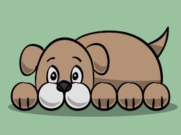 draw a simple cartoon dog simple cartoon cartoon and dog