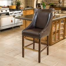 james 27 inch bonded leather counter stool by christopher knight
