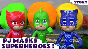 pj masks stop motion play doh surprise eggs play doh superheroes