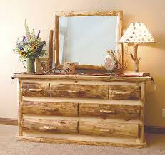 beartooth pass rustic aspen bed log furniture bedroom wood types