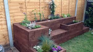 Garden Sleeper Ideas Garden Designs With Sleepers Ideas