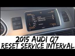 audi service interval reset how to reset service interval 2015 audi q7 2012 2015 tires