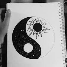 ying yang sun and moon tattoos moon and