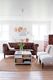Chesterfield White Leather Sofa My Scandinavian Home A Beautifully Renovated Swedish Farmhouse