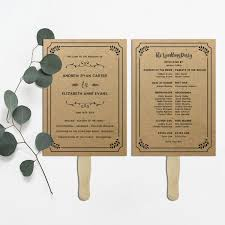 Diy Wedding Fan Programs Diy Rustic Wedding Program Fans Finding Wedding Ideas