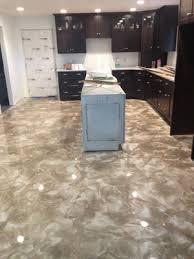 Epoxy Flooring Kitchen by G U0026m Concrete Overlays