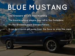 the with the blue mustang blue everything by gabe sulser