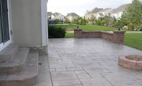 Concrete Patio Pavers Sted Concrete Patio And Wall Outdoor Spaces Pinterest