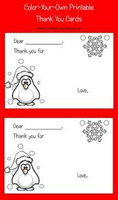 printable thank you notes for children note child and learning