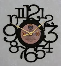 decorative clock fool for the city recycled lp vinyl record album clock