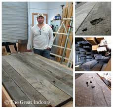 the great indoors our reclaimed barnwood table the great indoors
