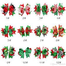 christmas accessories children hair accessories christmas baby hair ribbon bow