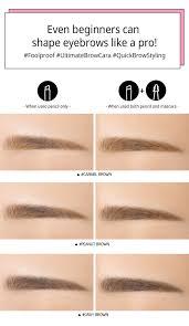 How To Pencil In Eyebrows 3ce Studio Coloring Brow Pencil U0026 Mascara Gray Brown New